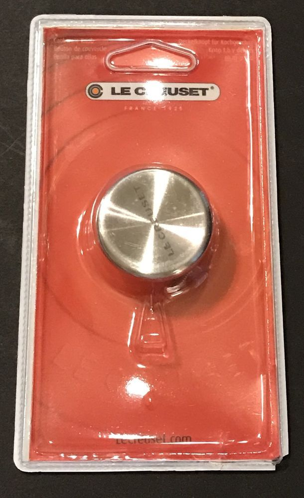 """Le Creuset Stainless Steel 1.6"""" Small Replacement Knob Cookware Accessory New  