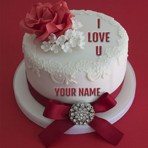 Happy Birthday Cakes For Lover With Name: Write Name On I Love You Propose Cake Online Free