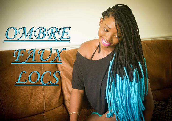 Diy Ombre Faux Locs Yarn Locs Wraps Hair Styles