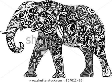 """""""In Buddhism, the elephant is a symbol of mental strength. At the beginning of one's practice the uncontrolled mind is symbolized by a gray elephant who can run wild any moment and destroy everything on his way. After taming one's mind, it is symbolized by a white elephant strong and powerful, who can be directed wherever one wishes and destroy all the obstacles on his way."""" #ivoryforelephants #elephants #stoppoaching #elephantart #art #animals #ivory"""