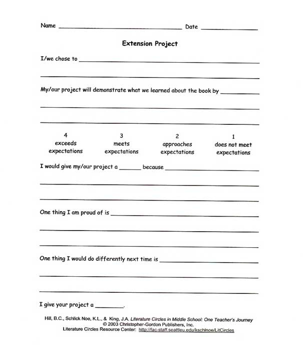 276 best Book Unit Studies images on Pinterest School, Book - project evaluation template