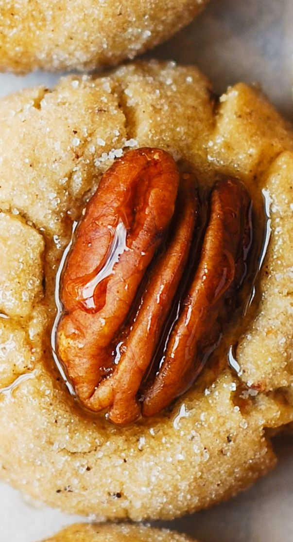 Browned Butter Pecan Sandies ~ delicious butter cookies made completely from scratch... AMAZING!