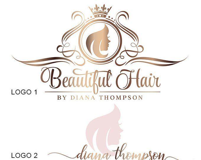 hair extensions logo gold hairdresser