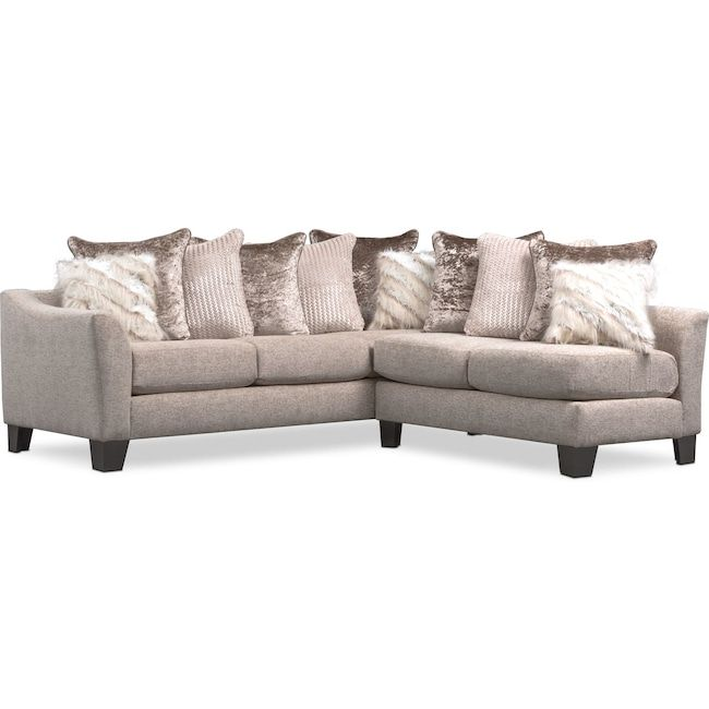 Living Room Furniture Allure 2 Piece Sectional Beige Furniture Value City Furniture White Furniture Living Room