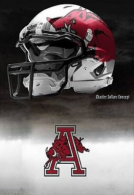 University of Arkansas Razorbacks  - concept football helmet