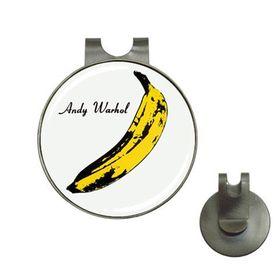 Andy Warhol - Banana - The Velvet Underground & Nico : Golf Hat Clip Ball Marker Holder