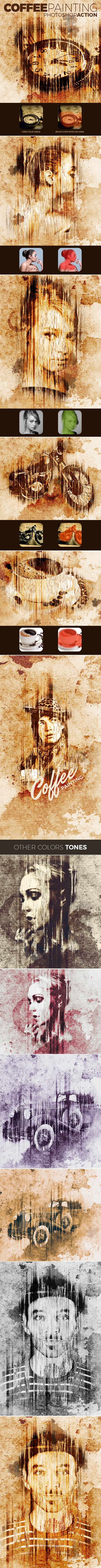 Coffee Painting Action - Photo Effects Actions