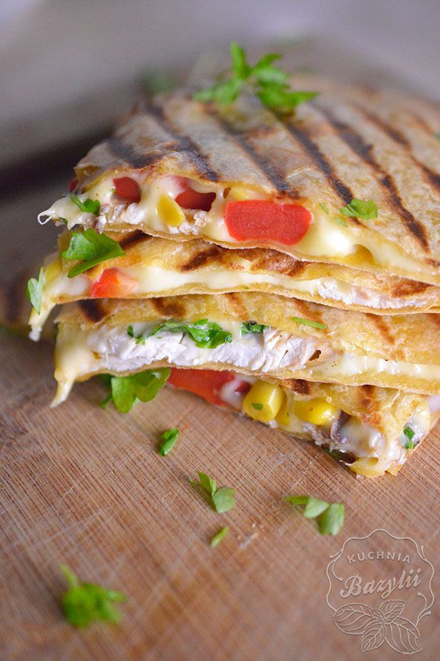 Quesadilla Z Kurczakiem Kuchniabazylii Pl Blog Kulinarny Recipe Recipes Workout Food Culinary Recipes
