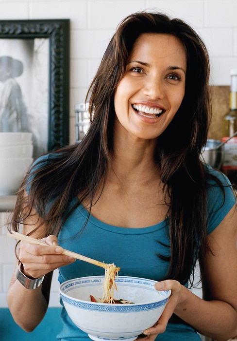 She began modeling when she was 18 but Padma Lakshmi today has sculpted her life into the culinary world via her book Easy Exotic and cooking shows!