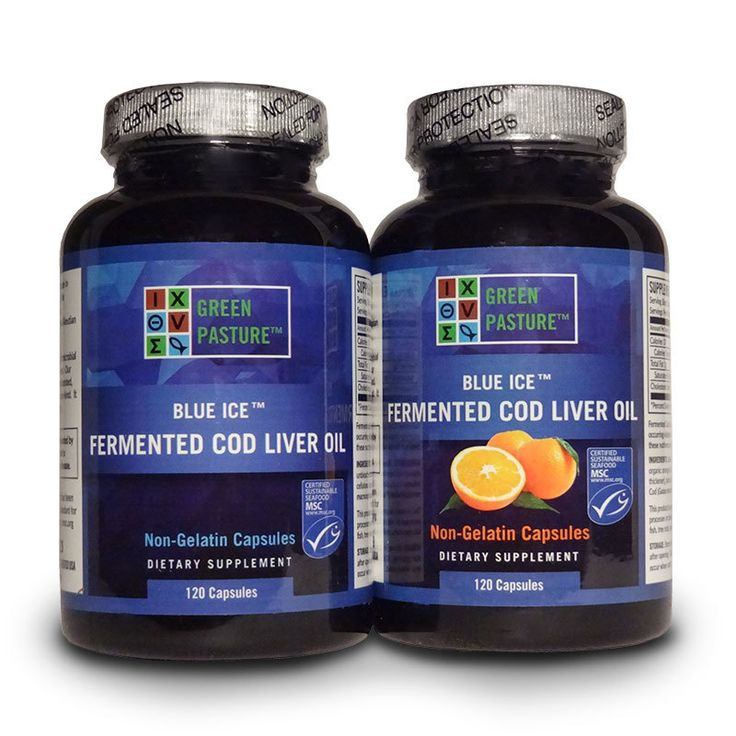 Nourishing World - Green Pasture Blue Ice Fermented Cod Liver Oil ~ 120 Capsules, $30.00 (https://www.nourishingworld.com/green-pasture-blue-ice-fermented-cod-liver-oil-120-capsules/)