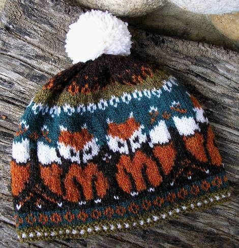 Christine73's Foxtrot | Knit Pattern | Hat | Colorwork | Color Work | Stranded