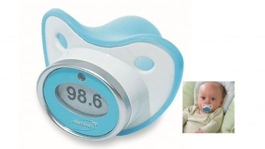 The pacifier thermometer is the easiest way to take your baby's temperature. | 36 Ingenious Things You'll Want As A New Parent