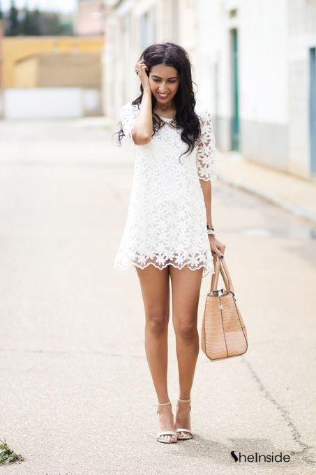 Long lace dress outfit
