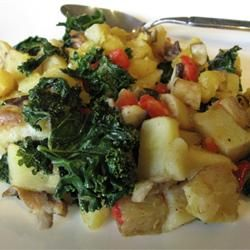 "Winter Vegetable Hash | ""I was looking for a recipe to use kale ..."