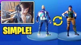 kid teaches you how to change default skin and no back bling fortnite best stream moments - rarest back blings fortnite