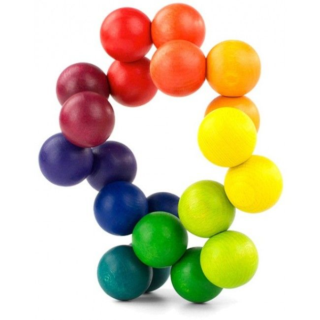 Interconnected colourful wooden balls that can be twisted in a myriad of patterns and artistic displays - in any way you please! It's highly addictive and, not only is it great for developing motor skills, it's also fantastic for the desk or decorating your lounge room! #entropytoys #woodentoys #classictoys #toystore #artball