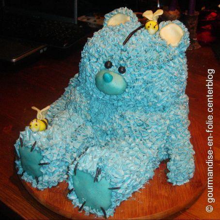 Bolo de aniversário Urso de Morango