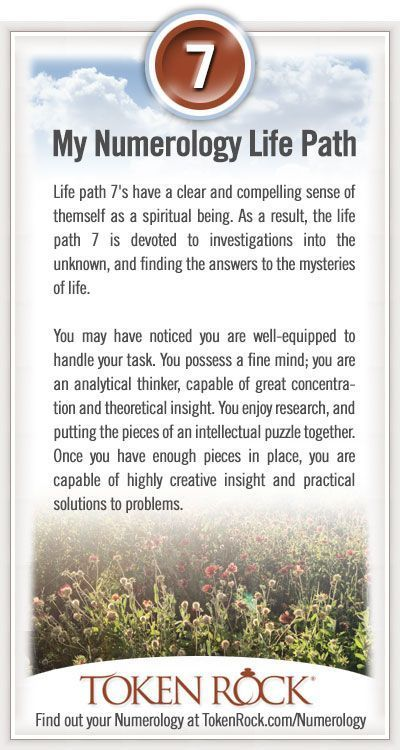 My #Numerology Life Path #7 | Sacred Geometry Meaning + Numerology