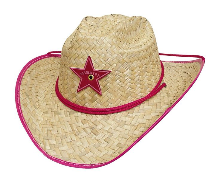 Rodeo Party Straw Childrens Cowboy Hat