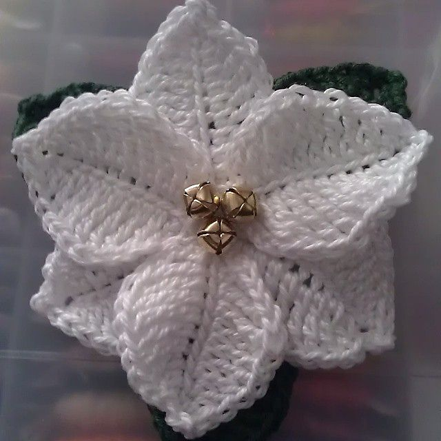 Ravelry: Poinsettia. Christmas flower by Celia... Free pattern!