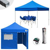 EZ Pop Up Commercial Canopy 10x10 Outdoor Party Patio Shade Tent W/N Side Walls