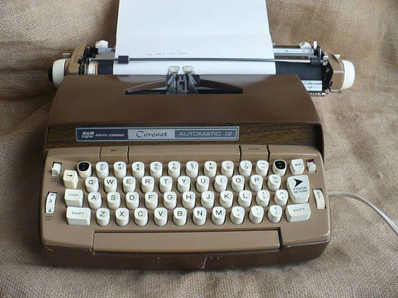 Vintage Smith Corona Typewriter Electric Typewriter Smith