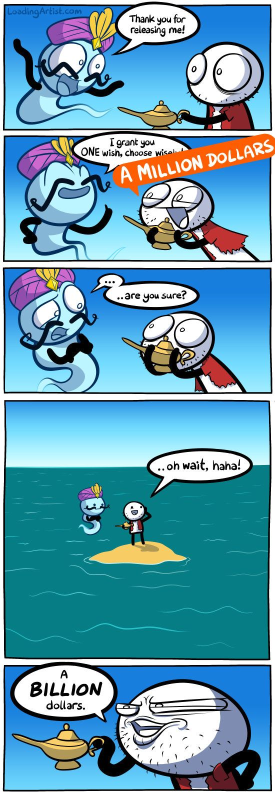 I grant you ONE wish, so choose wisely.. click to view full comic!