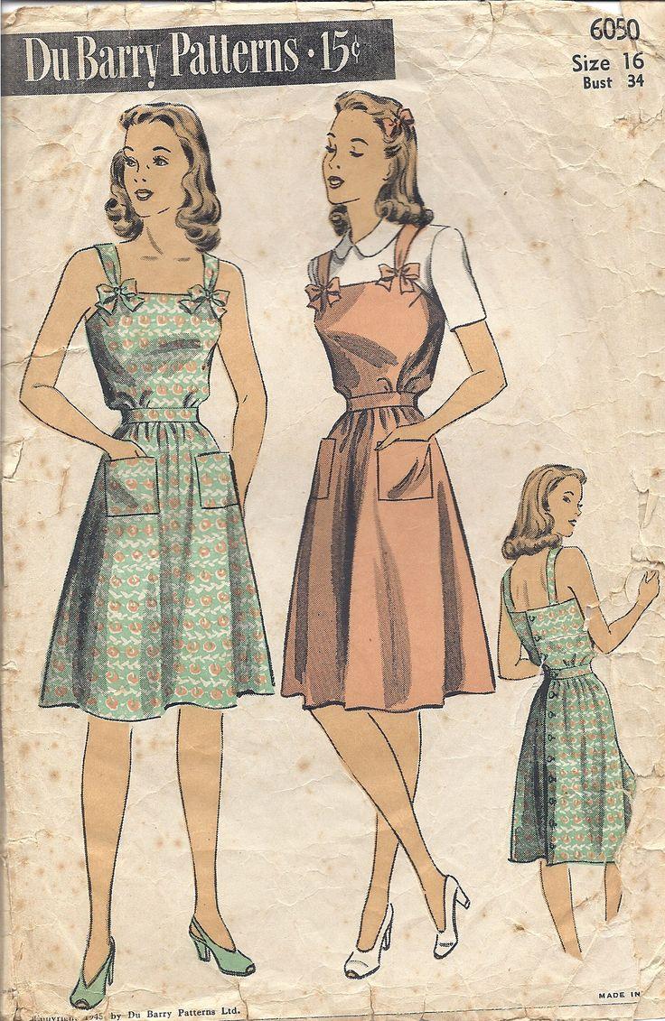 Vintage Du Barry Pattern Misses' Sundress or Jumper and Blouse #6050