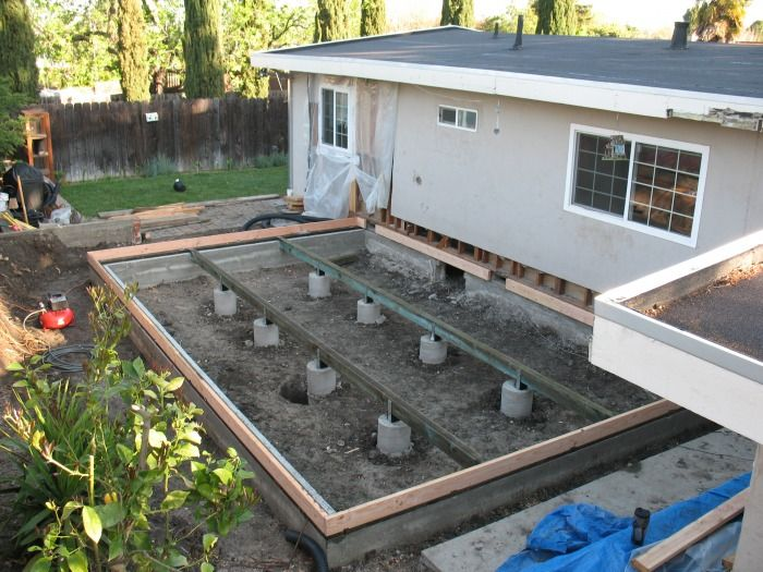 37 best images about room addition foundation and framing on pinterest concrete footings for Raised foundation types