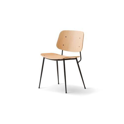 Søborg Chair, steel-frame version, Fredericia. Børge Mogensen.