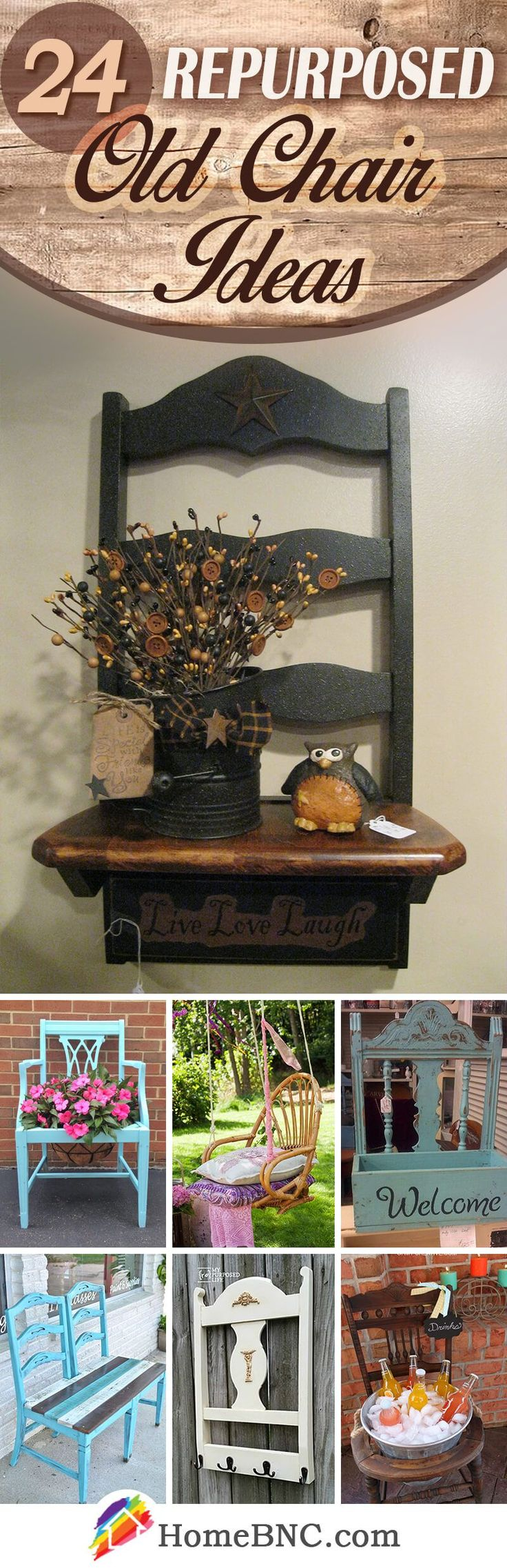 Repurposed Old Chair Decor Ideas