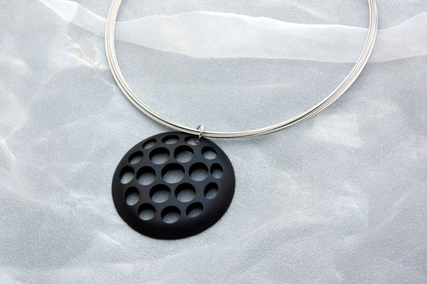 ALUMINIUM EMENTALUM necklace-LOVE SIMPLICITY collection. Tomas Holub - minimalist jewelry made of anodized and polished aluminum. Enjoy your own piece of aluminum!