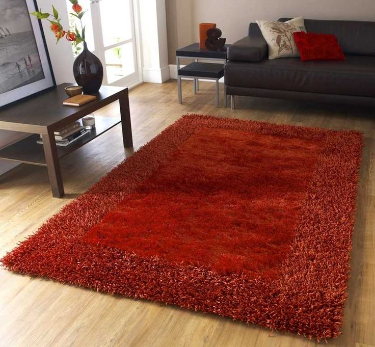 Sable 2 Burnt Orange Rugs | Modern Rugs