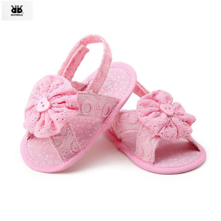 Fleur mignonne Baby Style Newborn Infant Toddler Filles main-tricotés laine crochet Chaussures Crib Shoes (blanc + rose) ZQzKg