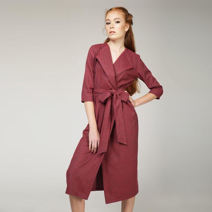 ПЛАТЬЕ С ЗАПАХОМ «AMAZING FLOWER» романтичный, женственный образ, глубокий вишневый цвет, очень приятную на ощупь ткань (100% хлопок). #платье  #мода #стиль #украина #сестры-дизайнеры #плиссировка #классика #бренд #свободный крой #красота #Fashion #style #beauty  #голубой #воланы #платье #хлопок #umm #марсала #вишневое #платье на запах #платье халат #мода