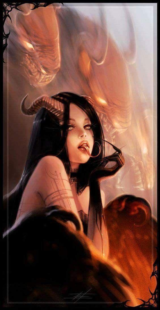 Картинки девочка и демон