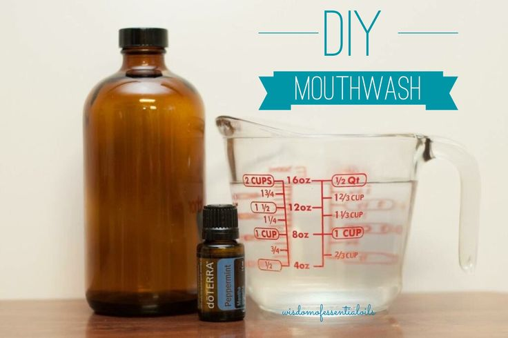 An easy DIY mouthwash recipe without the added chemicals!  -10 drops Peppermint Essential Oil  -10 drops On Guard Essential Oil -10 Drops Wild Orange Essential Oil  -2 Cups Distilled Water -16oz Glass Bottle (Amber Preferred) •Mix all together and shake. #mouthwash #diy #doterra #peppermint #onguard #wildorange #chemicalfree #wisdomofessentialoils