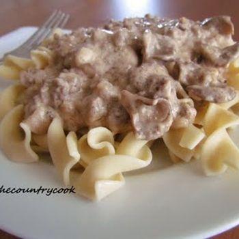 Ground Beef Stroganoff Recipe - The Country Cook & ZipList