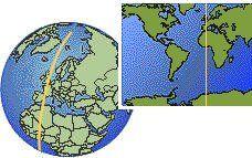 (UTC/GMT) time zone location map borders