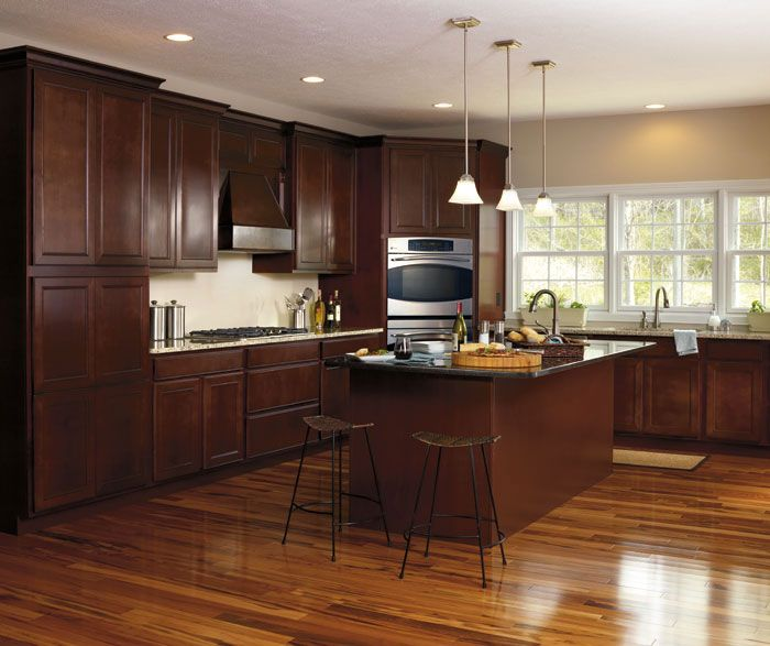 Kitchen Has Been Transforming Its Original Function And Homeowners Tend To Choose Dark Maple Cabinets