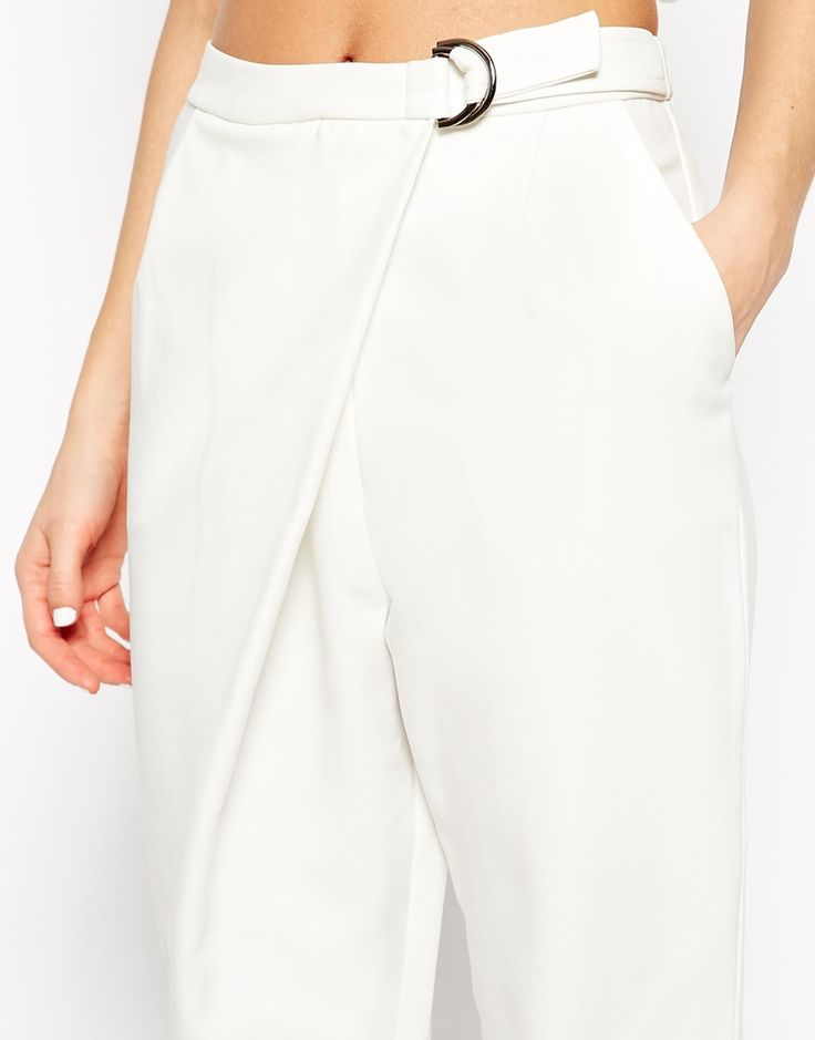 #shopping@animalarithmetic photo credit - ASOS Lavish Alice Tie Back Crop Top » http://bit.ly/1ABYEdL Lavish Alice D- Ring Peg Leg Trouser » http://bit.ly/1DkcOab