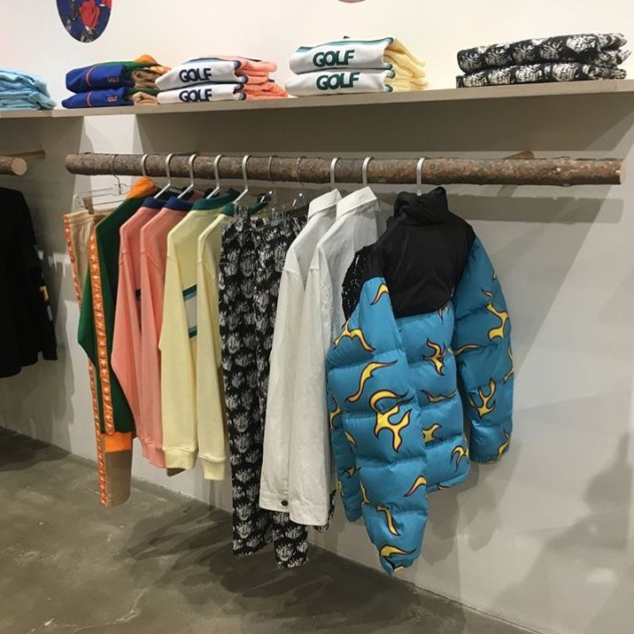 pinterest // @reflxctor GOLF STORE OPENING in LOS ANGELES tyler, the  creator, odd future team and frank ocean #golfwang #t… | Clothes, Korean  fashion, Races fashion