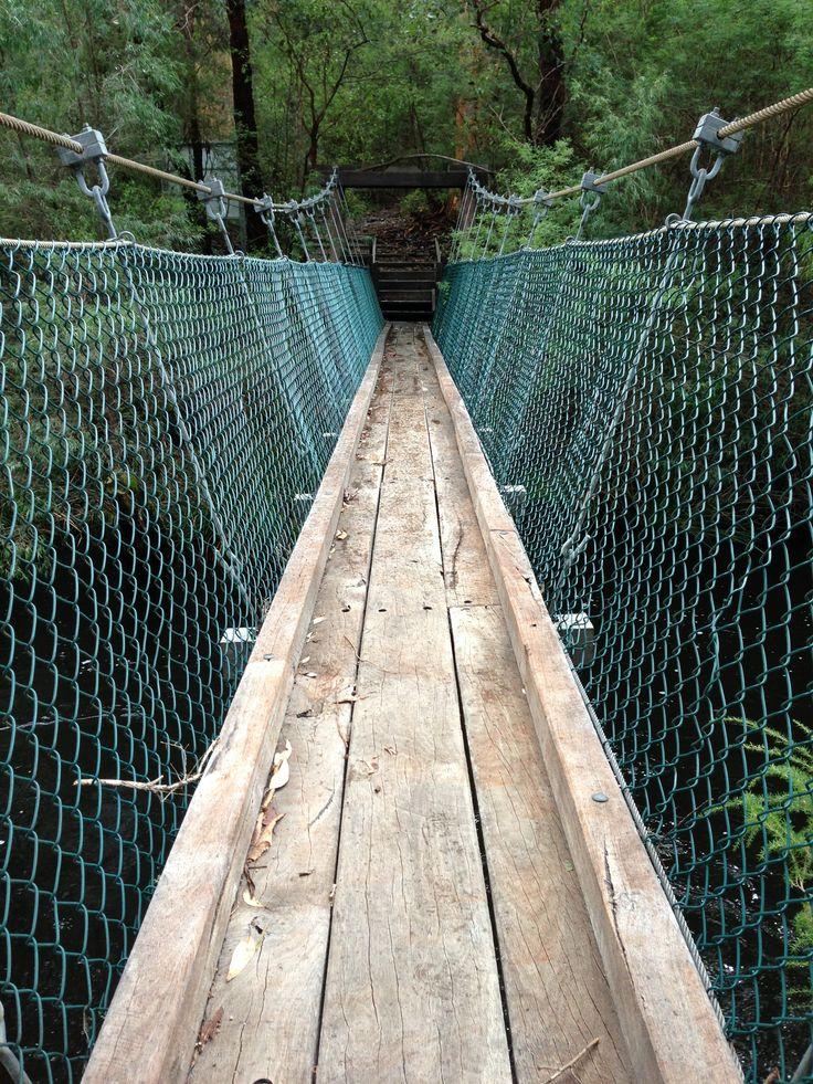 Deep River Suspension Bridge near Walpole