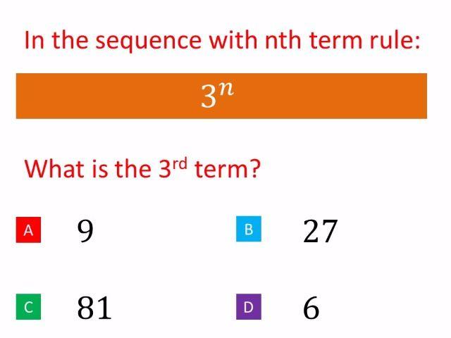Non linear sequences - new maths GCSE