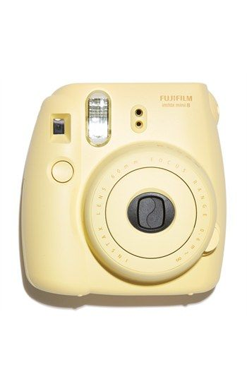 Fujifilm 'instax mini 8' Instant Film Camera available at #Nordstrom- Dont know why but i looove this camera, so cute: Camera I M, Polaroids, Bridesmaid Gifts, Fujifilm Instax Minis Yellow, Minis Polaroid Camera, Instant Camera, Camara, Bad Polaroid, Film Camera