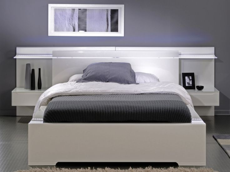 With a simple yet stunning design, the Savoy Bed features a high White Gloss Headboard with a stunning glass shelf attached that is softly illuminated by the LED Lights carefully placed behind. Description from fads.co.uk. I searched for this on bing.com/images