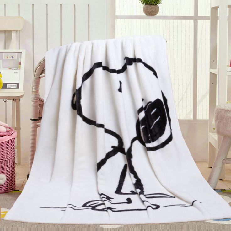 Cartoon Winter Thickening Peanuts Charlie Brown Woodstock Dog Office Coral Fleece Nap Blanket Home Car Blanket Gift