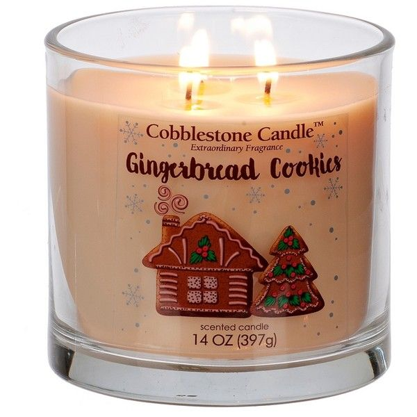 Gingerbread Cookies Jar Candle ($9.99) ❤ liked on Polyvore featuring home, home decor, candles & candleholders, scented candles, scented jar candles, round candles, wick candles and fragrance candles