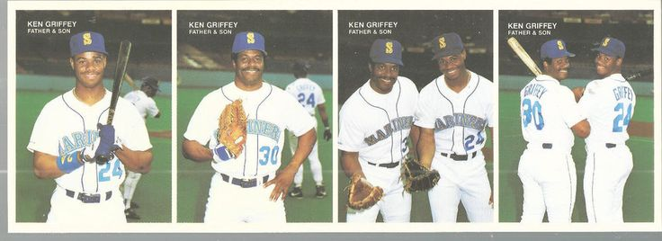 Ken Griffey Jr Sr Strip Mother's Cookies 1991 Set of 4 Original Shipment   #MothersCookies #SeattleMariners