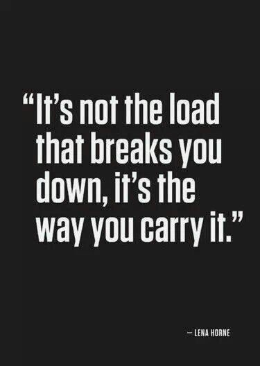 Trying to carry the load alone is what's breaking me